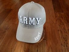 U.S Army Khaki Hat Cap 3D Army On Front Army Embroidered On Bill And Back