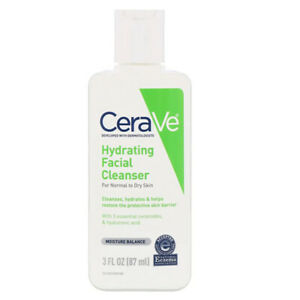 CeraVe Hydrating Facial Cleanser for Normal to Dry Skin 3 Oz. -Moisture Balance.