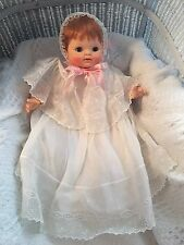 Vintage RARE 1965 9500 L Effanbee Red Hair Vinyl Cloth Baby Doll Original Outfit