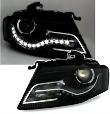 2 FEUX PHARE AVANT HALOGENE & LED LOOK XENON POUR AUDI A4 8K B8 12/2007-10/2011