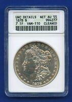 1878 P ANACS Unc Details Morgan Silver Dollar $1 VAM 110 1878-P Net AU55 Soapbox