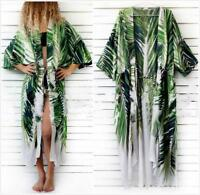 AU SELLER Oversize Cotton Kaftan Cardigan Long Top Beach Kimono Cover Up sw089-2