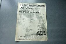 Partition Johnny Hallyday Les Chevaliers du ciel 1967 C/222