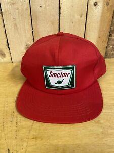 Vintage Sinclair Oil Gas Patch Trucker Hat Snapback Cap Dinosaur K Products