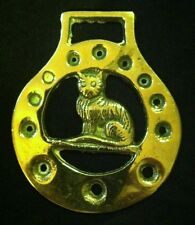 CAT SITTING Lovely Horse Harness Brass England WOW YOUR WALLS! CAT LOVER Gift!!