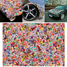 "Graffiti Cartoon JDM Bomb Car Wrap Phone 20""x30"" Decal Waterproof Vinyl Sticker"