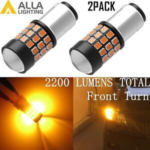 Alla Lighting 39-SMD 1157 BAY15D Amber Yellow LED Turn Signal Blinker Light Bulb