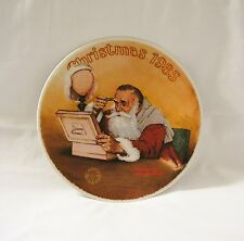 1985 KNOWLES Norman Rockwell #12 GRANDPA PLAYS SANTA Christmas Collector Plate
