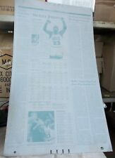 MICHAEL JORDAN Retirement Career Stats Page WASHINGTON POST PRINTING PLATE 1993