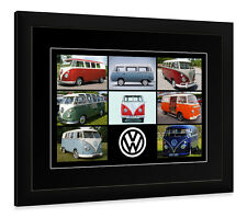 FRAMED AND OR MOUNTED PRINT VW CAMPER VAN   CLASSIC CAR  POSTER GIFT VOLKSWAGEN