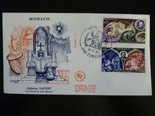 MONACO PREMIER JOUR FDC YVERT  794/95   LETTRES DE MON MOULIN   0,70+0,80F  1969