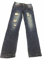 NO. 2 IMAGE JEANS WOMENS SIZE 29 DISTRESSED DARK WASH LOW RISE JEANS