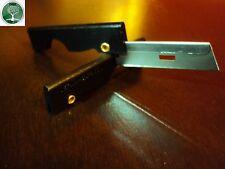 Five (5) Black Derma-Safe Stainless Steel Razor knifes