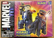 Marvel Comics miniMates Series 9 Art Asylum Assault Punisher Blade