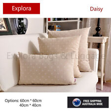 Daisy Print Natural Cotton Linen Cushion Cover Home Decor Pillow Case 45*45cm