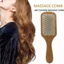 Bamboo Airbag Massage Scalp  nature wood brushes anti static hair styling comb