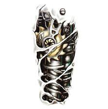 Man 3D Tattoo Robot Arm Waterproof Temporary Tattoo Stickers