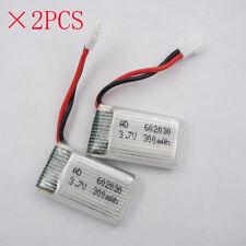 2pcs 3.7V 300mAh 25C 602030 JST plug LiPO Battery for UFO JJRC H11C RC FPV Drone