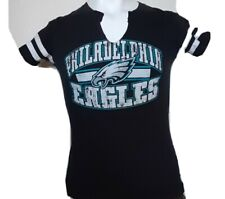 Womens Philadelphia Eagles Dark Grey Graphic T-shirt Short Sleeve SZ M 38  X 24