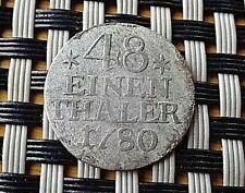 GERMAN STATES-SILVER 48 ENEIN THALER 1780 A 1/48 THALER PRUSSIA FRIDERICK II.