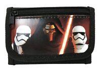 "New Disney Star Wars ""The Force Awaken"" Kylos Tri Fold Wallet - Black"