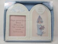 """Small Porcelain Picture Frame Precious Moments """"Love Blooms Eternal"""" Enesco 1999"""