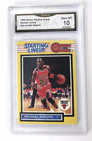 RARE!GEM 10!MINT! 89 STARTING LINE UP 1 on 1 Michael Jordan Reprint Card Bull MJ