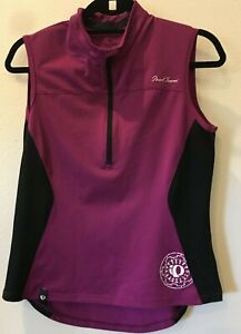 Pearl Izumi women's Large sleeveless cycle jersey purple 1/4 zip 21-920