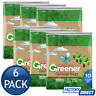 6 x MULTIX GREENER GARBAGE BAGS EXTRA WIDE 56L PLASTIC 10PACK DEGRADABLE STORAGE