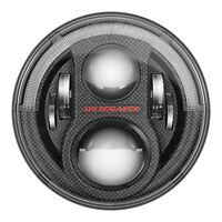 """JW Speaker 8700 Evolution J2 7"""" LED Headlight Pair - Carbon 07-17 Jeep Wrangler"""