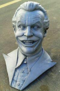 "Jack Nicholson Life Size Bust 1:1 Resin Movie Prop 1989 Batman Joker ""B"" Casting"