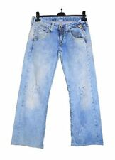 Mens REPLAY Hand Customized Distress Cotton Retro Vtg Blue Jeans W28 L34 AS45