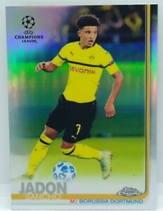 2018-19 Topps Chrome UEFA CL Jadon Sancho REFRACTOR SP RC #85 BVB READ