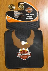 Harley Davidson Car Truck Floor Mats American Eagle Wings Flying Bar Shield New