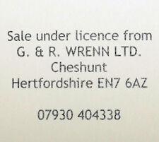 WRENN Etched model railway Name Plates Lancashire Witch