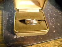 ~James Avery 14K/925 Sterling Silver Band Ring Size 8~