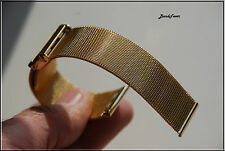 18mm ALL GOLD MESH WATCH BAND,Bracelet Two pices Bulova accutron Quartz + Pins
