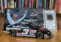 ACTION DALE EARNHARDT DAYTONA 500 CLEAR WINDOW BANK & TIRE PIECE 1:24 1998 Monte