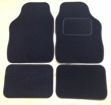CAR MATS BLACK WITH BLACK TRIM FOR HYUNDAI COUPE AMICA TRAJET GETZ I10 120