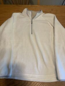 Womens Old Navy XXL white fleece pullover