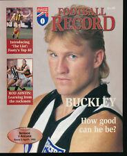 1995 AFL Football Record Brisbane Bears v Adelaide Crows April 9 unmarked