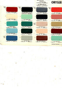 1956 1957 CHRYSLER IMPERIAL WINDSOR SARATOGA 300 NEW YORKER PAINT CHIPS 57MS
