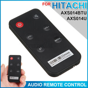 ABS Replacement Audio Remote Control Black Fit For HITACHI AXS014BTU AXS014U