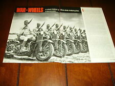 HARLEY DAVIDSON - INDIAN MILITARY MOTORCYCLE  ***ORIGINAL 1988 ARTICLE***