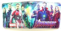 Avengers Endgame iron man Drax Bifold Wallet purse Black Widow Strange America
