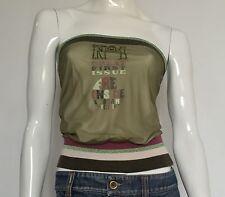 Pinko top 1 maglia sexy usata tg M 42 44 vintage estiva sexy aderente T956