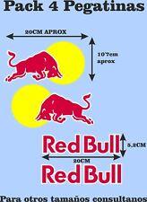 4x Pegatinas Toro RED Sticker Vinilo Adhesivo coche moto casco Bull