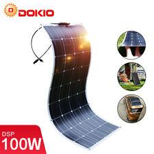 Dokio 100w 12v Monocrystalline Semi-flexible Solar Panel For RV/Boat/Car/Home