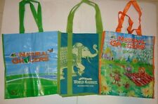 World Market & Natural Grocers Reusable Shopping Grocery Tote Bags lot of 3