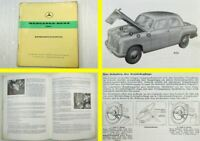 Mercedes Benz 180c W120 Betriebsanleitung Bedienungsanleitung 1962